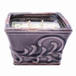 CLOSEOUT-Fresh Strawberry English Garden Small Square Swan Creek Candle (Color: Plum) | Swan Creek Candles Closeouts