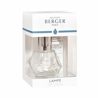 NEW! - Geometry Clear Lamp Gift Set with 180 ml (6.08 oz.) Zest of Verbena Fragrance Oil - Lampe Berger by Maison Berger