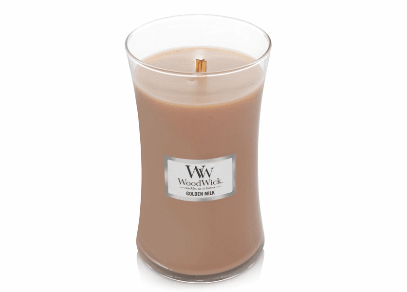 NEW! - Golden Milk WoodWick Large Jar Candle
