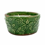 NEW! - Golden Myrrhs Holiday Pottery Bowl Swan Creek Candle | Swan Creek Candle Holiday Pottery Candles