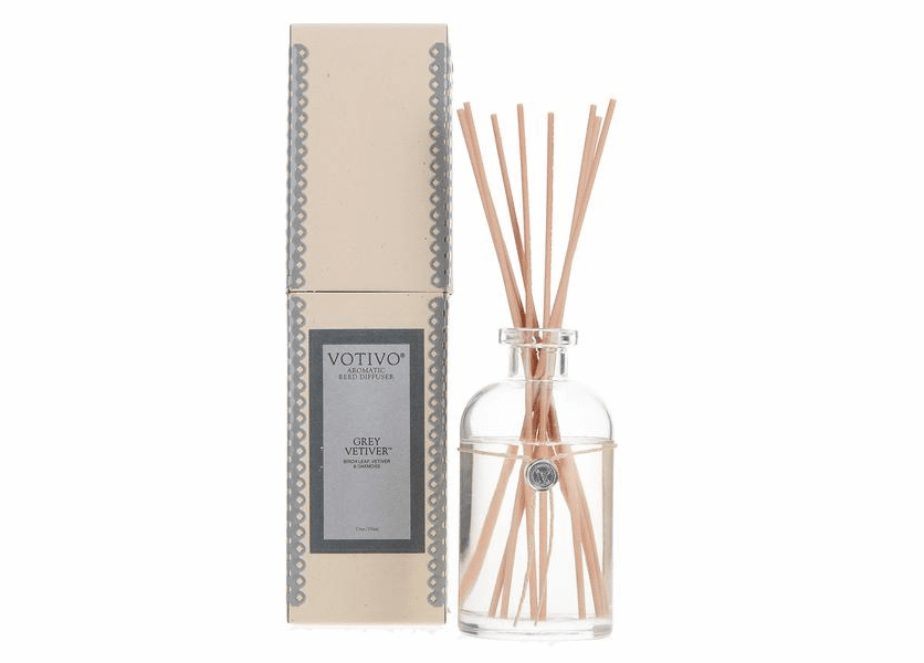 NEW! - Grey Vetiver Aromatic Reed Diffuser Votivo Candle