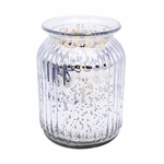 NEW! - Home for the Holidays Silver 24 oz. Gilded Glass Large Jar Swan Creek Candle | Gilded Glass Collection
