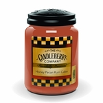 NEW! - Honey Pecan Rum Cake 26 oz. Large Jar Candleberry Candle | New Releases by Candleberry