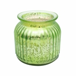 NEW! - Honey Soaked Apples Green 14 oz. Gilded Glass Medium Jar Swan Creek Candle | Gilded Glass Collection