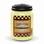 NEW! - Honeysuckle 26 oz. Large Jar Candleberry Candle | New Releases by Candleberry
