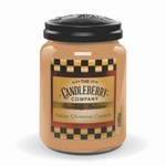 CLOSEOUT - Italian Christmas Cookie 26 oz. Large Jar Candleberry Candle | Candleberry Candle Closeouts