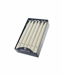 "Ivory 10"" Unscented Handipt Taper 12-Pack Colonial Candle 