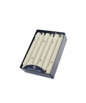 "Ivory 8"" Unscented Classic Taper 12-Pack Colonial Candle 