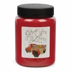 NEW! - Life You Love Artwork Pomegranate & Vanilla 26 oz. Crossroads Candle | Crossroads 26 oz. Artwork Label Candles