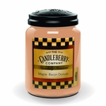NEW! - Maple Bacon Donuts 26 oz. Large Jar Candleberry Candle | New Releases by Candleberry