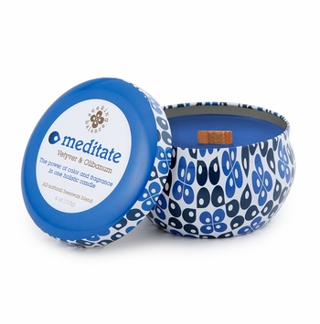 NEW! - Meditate (Vetyver & Olibanum) 4 oz. Seeking Balance Spa Traveler Tin by Root