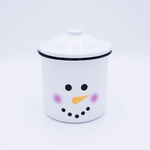 NEW! - Mistletoe Kiss Festive Holiday Swan Creek Large Canister Candle | NEW! - Holiday Enamelware Candles