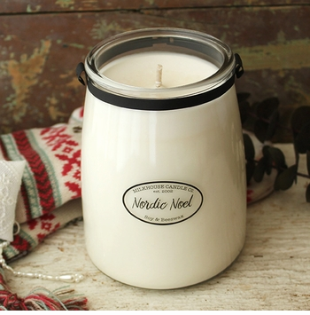 CLOSEOUT - Nordic Noel 22 oz. Butter Jar Candle by Milkhouse Candle Creamery