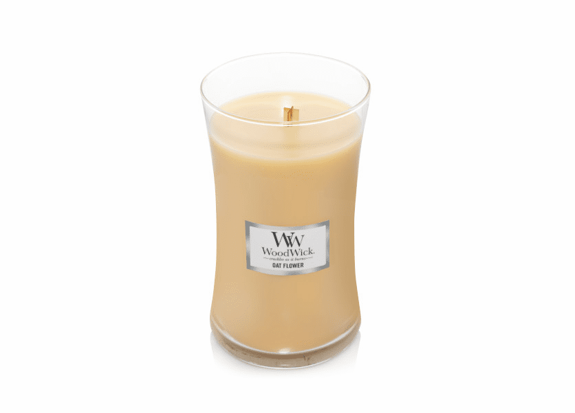 NEW! - Oat Flower WoodWick Large Jar Candle