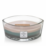 NEW! - Ocean Breeze WoodWick Trilogy Candle 16 oz. HearthWick Flame | New WoodWick Spring & Summer 2019 Releases