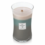 NEW! - Ocean Breeze WoodWick Trilogy Candle 22 oz. | New WoodWick Spring & Summer 2019 Releases