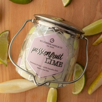 CLOSEOUT-Passionfruit Lime Ltd Edition 16 oz. Wrapped Butter Jar Candle by Milkhouse Candle Creamery