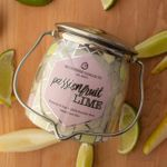 CLOSEOUT-Passionfruit Lime Ltd Edition 16 oz. Wrapped Butter Jar Candle by Milkhouse Candle Creamery | Milkhouse Candle Creamery Closeouts