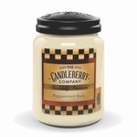CLOSEOUT - Peppermint Bark 26 oz. Large Jar Candleberry Candle | New Releases by Candleberry