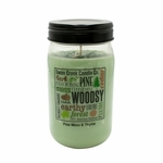 NEW! - Pine Moss & Thyme 24 oz. Swan Creek Kitchen Pantry Jar Candle | 24 oz. Swan Creek Kitchen Pantry Jar Candles