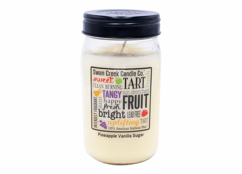 NEW! - Pineapple Vanilla Sugar 24 oz. Swan Creek Kitchen Pantry Jar Candle