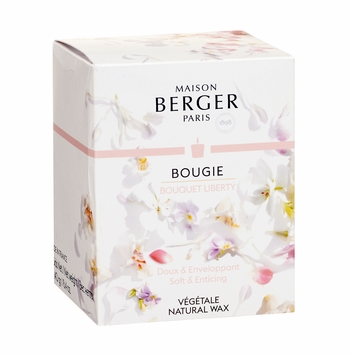 NEW! - Poesy Candle in Bouquet Liberty 240g - Maison Berger by Lampe Berger