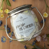 CLOSEOUT-Prairie Flower Ltd Edition 16 oz. Wrapped Butter Jar Candle by Milkhouse Candle Creamery