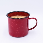 NEW! - Pumpkin Vanilla Gourmet Enamelware Medium Mug Swan Creek Candle | Gourmet Enamelware Collection