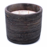 CLOSEOUT - Pumpkin Vanilla Weathered Wood Pottery Large Round Pot Swan Creek Candle | Swan Creek Candles Closeouts