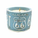"NEW! - Roasted Espresso American Highway ""Alabama"" Round License Plate Pot Swan Creek Candle 