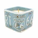 "NEW! - Roasted Espresso American Highway ""Indiana"" Square License Plate Pot Swan Creek Candle 