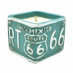 "NEW! - Roasted Espresso American Highway ""New Mexico"" License Plate Square License Plate Pot Swan Creek Candle 