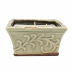 NEW! - Rum Raisin Glaze English Garden Large Square Pot Swan Creek Candle | English Garden Collection