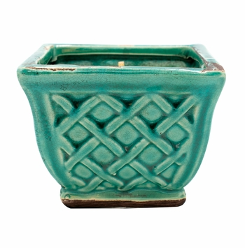 CLOSEOUT - Rum Raisin Glaze French Farmhouse Square Pot Swan Creek Candle