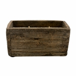 NEW! - Rum Raisin Glaze Weathered Wood Pottery Small Window Box Swan Creek Candle | Weathered Woods Pottery Collection by Swan Creek Candle