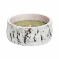 NEW! - Sage & Citrus Woodland Birch Bowl Crossroads Candle