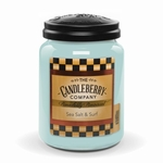 NEW! - Sea Salt & Surf 26 oz. Large Jar Candle Candleberry Candle | New Releases by Candleberry