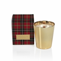CLOSEOUT - Siberian Fir Medium Metallic Jar Candle with Gift Box - Gold - by Zodax