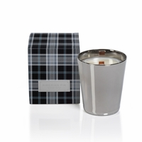 CLOSEOUT - Siberian Fir Medium Metallic Jar Candle with Gift Box - Silver - by Zodax