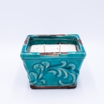 CLOSEOUT - Silver Spruce & Cedar Tips English Garden Small Square Swan Creek Candle   Swan Creek Candles Closeouts