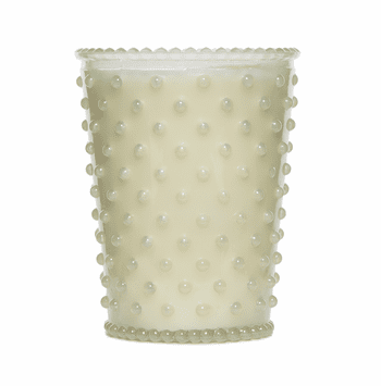 NEW! - Simpatico White Flower Hobnail Glass Candles by K. Hall Studio
