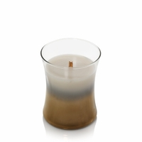 NEW! - Smoked Jasmine Floral Night Decorated Medium Hourglass WoodWick Candle