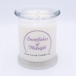 NEW! - Snowflakes at Midnight Clean & Contemporary 9 oz. Jar Swan Creek Candle | Swan Creek Clean & Contemporary Collection
