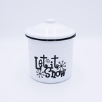 NEW! - Snowflakes at Midnight Festive Holiday Swan Creek Large Canister Candle | Holiday Enamelware Candles