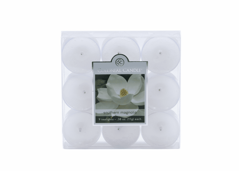 NEW! - Southern Magnolia 9-Pack Tealights Colonial Candle
