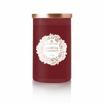 CLOSEOUT - Sparkling Cranberry 18 oz. Holiday Wreath Colonial Candle | Colonial Candle Closeouts