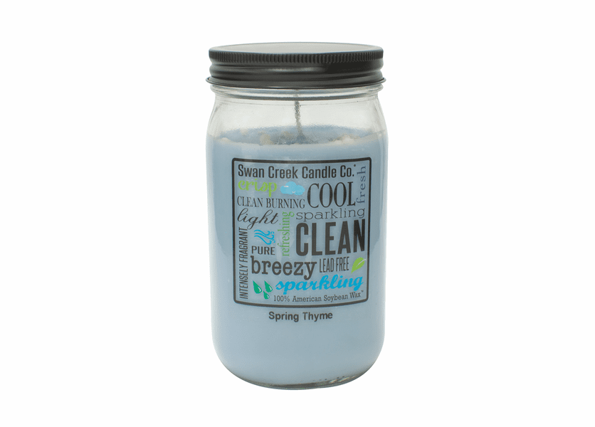 NEW! - Spring Thyme 24 oz. Swan Creek Kitchen Pantry Jar Candle