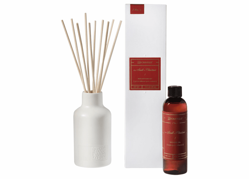 The Smell of Christmas 4 oz. Reed Diffuser Set by Aromatique