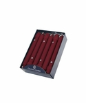 "Traditional Cranberry 8"" Unscented Classic Taper 12-Pack Colonial Candle 