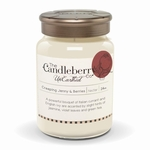 Unearthed Creeping Jenny & Berries 24 oz. Luminare Vitrum Candleberry Candle | Large Jar Candles by Candleberry